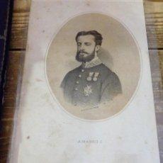 Arte: 1870 LITOGRAFIA DE AMADEO I DE SABOYA, FIRMADA PÒR CEBRIAN. Lote 114190207