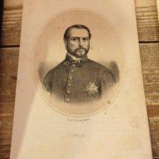 Arte: 1870 LITOGRAFIA DE PRIM , REALIZADO EN MADRID EN LA LIT. DE N. GONZÁLEZ. 24X15 CMS. Lote 114203451