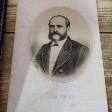 Arte: 1870 LITOGRAFIA DE JUAN TOPETE , FIRMADO POR LLANTÁ, MADRID EN LA LIT. DE N. GONZÁLEZ.24X15 CMS. Lote 114203751