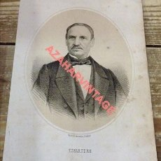 Arte: 1870 LITOGRAFIA DEL GENERAL ESPARTERO REGENTE DEL REINO. Lote 114281879