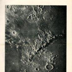 Arte: SUPERFICIE LUNAR CORDILLERA APENINOS LUNARES ASTRONOMÍA CIENCIAS NATURALES (OBSERVATORIO DE PARIS). Lote 160237653