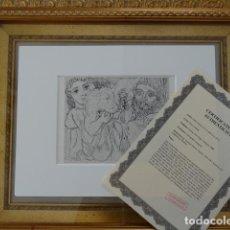 Arte: LITOGRAFIA DE PABLO PICASSO SUITE VOLLARD CON CERTIFICADO DE AUTENTICIDAD, 1956. Lote 115277995