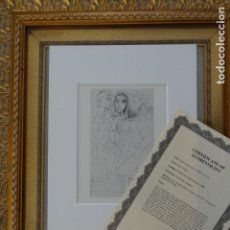 Arte: LITOGRAFIA DE PABLO PICASSO SUITE VOLLARD CON CERTIFICADO DE AUTENTICIDAD. Lote 115278211