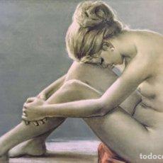 Arte: MUJER POSANDO DESNUDA. Lote 115739587