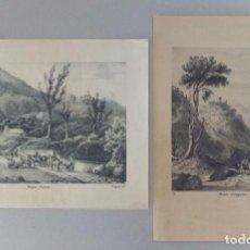 Arte: 2 GRABADOS LITOGRAFICOS DE ITALIA. Lote 115899519