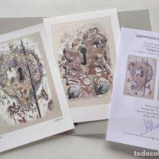 Arte: PAREJA DE LITOGRAFÍAS EN BONITA CARPETA -VIEJOS PORTONES-. AUTOR: MIGUEL ALFARO. Lote 235345515