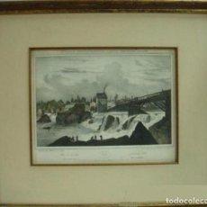 Arte: JACQUES MILBERT PAWTUCKET FALLS LITHOGRAPH. Lote 116978095