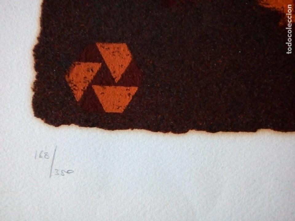Arte: LITOGRAFIA ORIGINAL en relieve FIRMA a LAPIZ autor : CARMEN AGUADE CORTES-TITULO COMPOSICIÓN.- - Foto 8 - 117470131