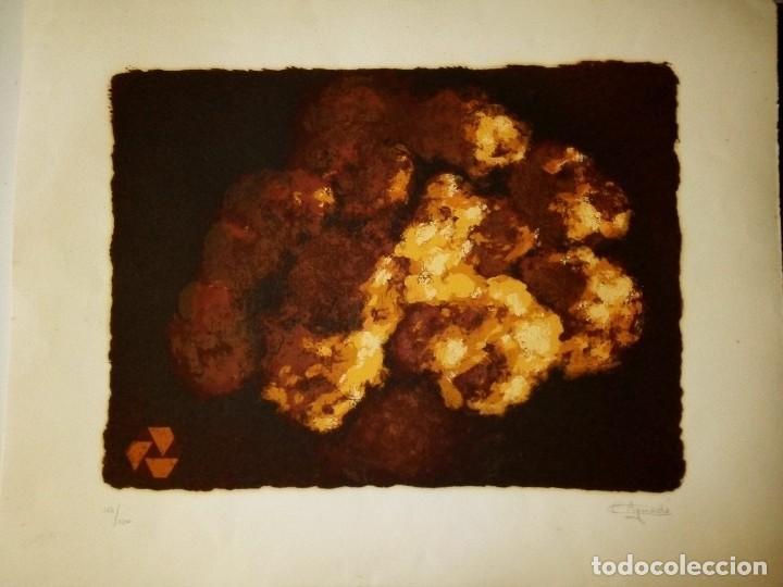 Arte: LITOGRAFIA ORIGINAL en relieve FIRMA a LAPIZ autor : CARMEN AGUADE CORTES-TITULO COMPOSICIÓN.- - Foto 10 - 117470131