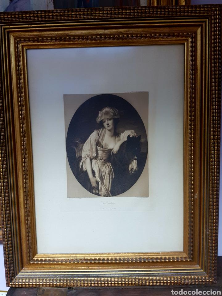FRANZ HANFSTAENGL MUNICH LITHOGRAPH, LA LAITIERE - JEAN BAPTISTE GREUZE PINX 63X50CM (Arte - Litografías)