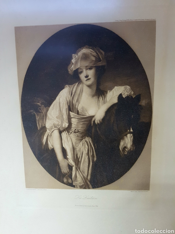 Arte: Franz Hanfstaengl Munich Lithograph, La Laitiere - jean baptiste greuze pinx 63x50cm - Foto 2 - 117753668