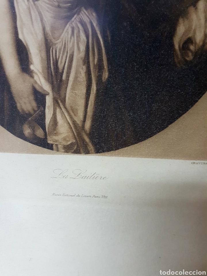 Arte: Franz Hanfstaengl Munich Lithograph, La Laitiere - jean baptiste greuze pinx 63x50cm - Foto 3 - 117753668