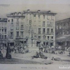 Arte: JOHN FREDERICK LEWIS. MADRID. PUERTA DEL SOL EN 1830. LÁMINA O LITOGRAFÍA SIGLO XX. (50 X 35 CTMS). Lote 117818551