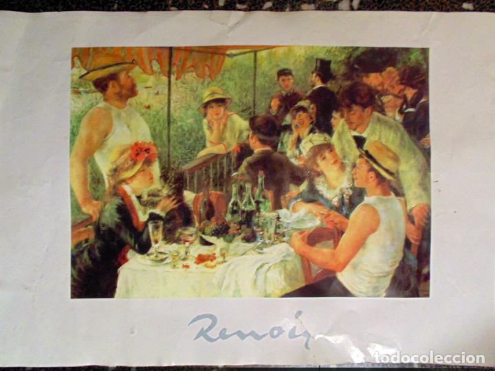 Arte: CARTEL BONITA LITOGRAFIA ORIGINAL DE OBRA DE - RENOIR -TAMAÑO 70X50 CMS. - Foto 2 - 118790511