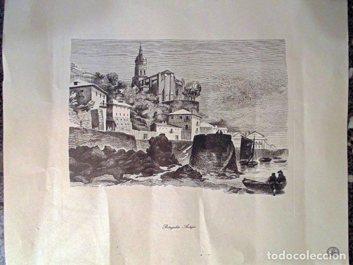 BONITA LITOGRAFIA DE - PORTUGALETE . ANTIGUO - OBRA DE A. BADILLO.TAMAÑO 51X44 CMS (Arte - Litografías)