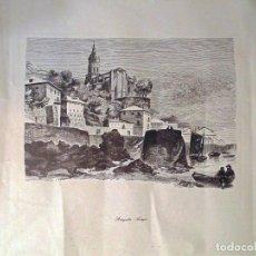 Arte: BONITA LITOGRAFIA DE - PORTUGALETE . ANTIGUO - OBRA DE A. BADILLO.TAMAÑO 51X44 CMS. Lote 118791583