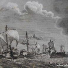 Arte: COMBARE NAVAL ROMANOS CARTAGINESES EN AGUAS DEL EBRO .AÑO 1852 . Lote 118977687