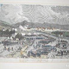 Arte: GUERRA CARLISTA. ATAQUE DE LOS CARLISTAS A LAGUARDIA (1874).. Lote 119370971