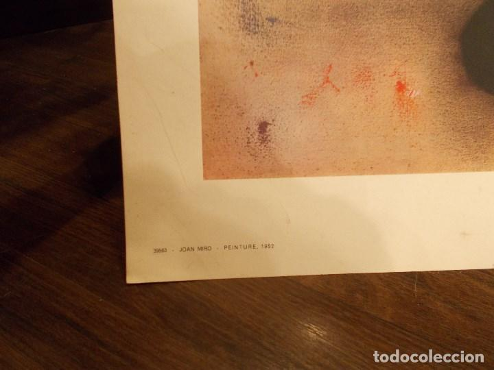Arte: JOAN MIRÓ LITOGRAFIA ORIGINAL IMPRESA EN FRANCIA EN 1965 MEDIDAS 89 X 41 Cms (FM) - Foto 7 - 119483523