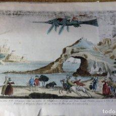 Arte: EDICION FACSIMILAR GRABADO VUELO AEROSTATICO SOBRE PLASENCIA Y CORIA EN 1784, 34X26 CMS, MUY RARO. Lote 119698991