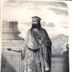 Arte: LITOGRAFÍA HERÁLDICA RAMIRO II 1860. Lote 120020138