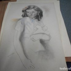 Arte: LITOGRAFIA NUMERADA Y FIRMADA A MANO CON SELLO ARCHIVO DE ARTE MIDE 49 POR 32 CM. Lote 120114311