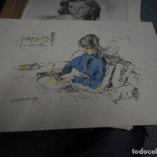 Arte: LITOGRAFIA NUMERADA Y FIRMADA A MANO CON SELLO ARCHIVO DE ARTE MIDE 49 POR 32 CM. Lote 120114407