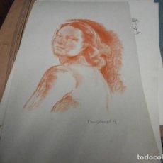 Arte: LITOGRAFIA NUMERADA Y FIRMADA A MANO CON SELLO ARCHIVO DE ARTE MIDE 49 POR 32 CM. Lote 120114491