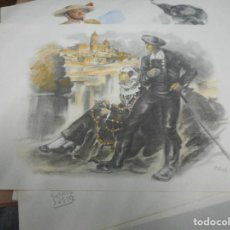 Arte: LITOGRAFIA NUMERADA Y FIRMADA A MANO CON SELLO ARCHIVO DE ARTE MIDE 49 POR 32 CM. Lote 120114927