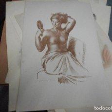 Arte: LITOGRAFIA NUMERADA Y FIRMADA A MANO CON SELLO ARCHIVO DE ARTE MIDE 49 POR 32 CM. Lote 120115119
