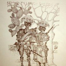 Arte: OTTO CAVALCANTI. LITOGRAFIA ORIGINAL FIRMADA A MANO. TIRAJE 11/75. Lote 120173343
