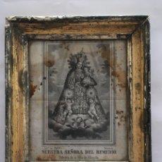 Arte: LITOGRAFÍA. NTRA. SRA. DEL REMEDIO. PATRONA DE LA VILLA DE ALBAYDA .LITA. DE SANCHIS (VCIA). S. XIX. Lote 120325926