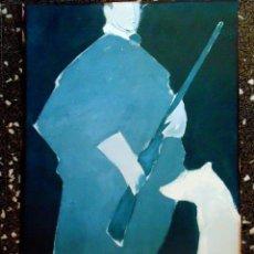 Arte: CARTEL LITOGRAFIA DE - MANOLO VALDES - EL INFANTE DON FERNANDO- 1987.TAMAÑO 88X 50 CMS. Lote 120353391