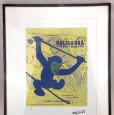 Arte: ANDY WARHOL MONKEY 1986 YELLOW LITOGRAFIA NUMERADA EN EDICION LIMITADA CMOA USA CARNEGIE ART MUSEUM. Lote 120470239