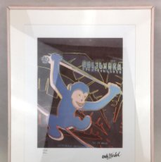 Arte: ANDY WARHOL MONKEY 1986 PINK . LITOGRAFIA NUMERADA EN EDICION LIMITADA CMOA USA CARNEGIE ART MUSEUM. Lote 120470271