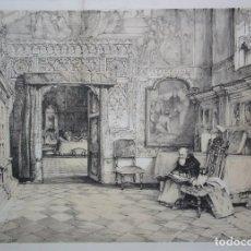 Arte: JOHN FREDERICK LEWIS, SALA CAPITULAR DE LA CATEDRAL DE TOLEDO. LITOGRAFÍA DEL SIGLO XIX. Lote 120803911