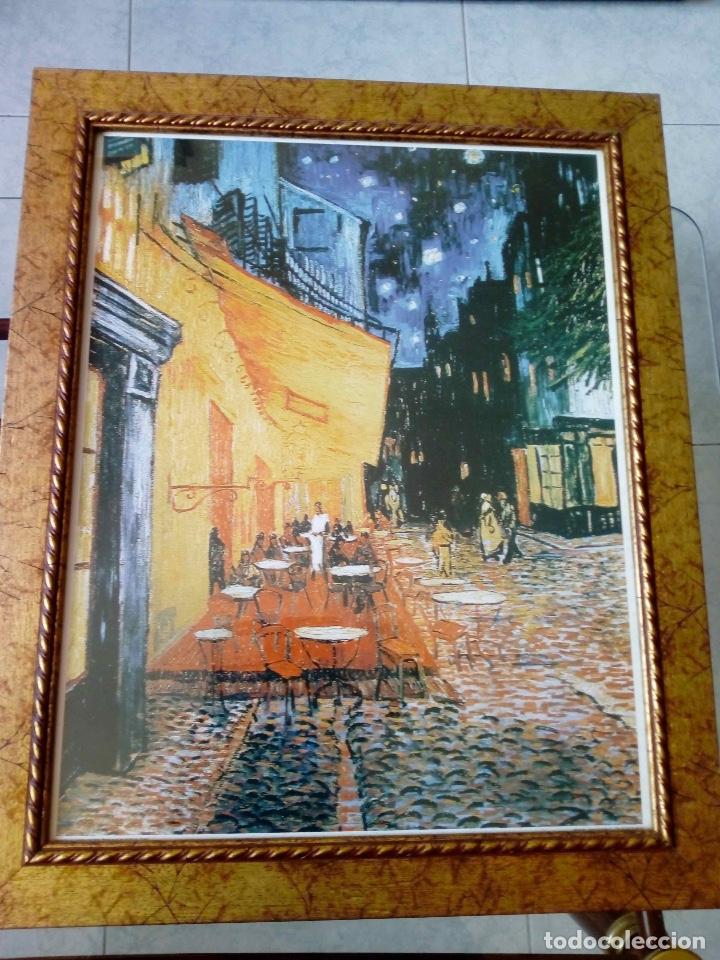 Lámina Enmarcada Terraza De Café Por La Noche De Van Gogh