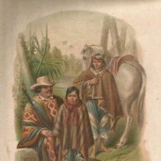 Arte: LITOGRAFÍA ARAUCANOS DE LA FRONTERA DE CHILE. Lote 121430555