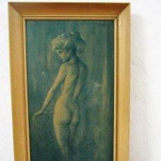 Arte: VINTAGE LITOGRAFIA LEO JANSEN ENMARCADA NUDE STUDY 86X48CM. Lote 121459807