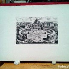 Arte: BASÍLICA VATICANA ANTIGUA LITOGRAFÍA ORIGINAL. 1820 APROX.. Lote 121814015