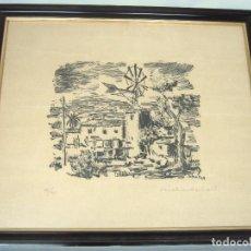 Arte: RICHARD SCHALL 1968 - FIRMADO Y NUMERADO - MOLINO MALLORCA. Lote 122304823