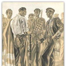 Arte: LITOGRAFIA ORIGINAL S XX- ILUSTRACION FRANQUISTA - PROPAGANDA - SAENZ DE TEJADA - . Lote 137583654