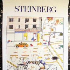 Arte: CARTEL ORIGINAL LITOGRAFIA DE - STEINBERG - AÑO 1982.TAMAÑO 89X58 CMS. Lote 122668711