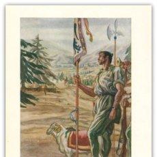 Arte: LITOGRAFIA ORIGINAL S XX- LEGIONARIOS - EN EL LLANO AMARILLO - SAENZ DE TEJADA - BANDO NACIONAL - . Lote 122858479