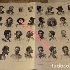 Arte: LITOGRAFIA SIGLO XIX, ETNICA, RAZAS , 46X34 CMS. Lote 124006547