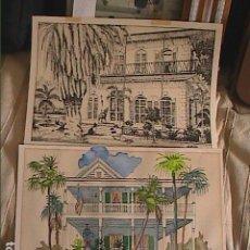 Arte: 2 EXCELENTES LITOGRAFIAS DE WALTER ASHE. ESTADOS UNIDOS. 1970. FIRMADAS Y NUMERADAS.. Lote 124534939