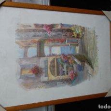 Arte: CUADRO CON LITOGRAFIA DE LOS AÑOS 80 NUEVO. Lote 124957983