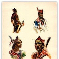 Arte: LITOGRAFIA ORIGINAL SIGLO XX- SIM - MILICIANOS REPUBLICANOS - GUERRA CIVIL ESPAÑOLA - . Lote 125074287