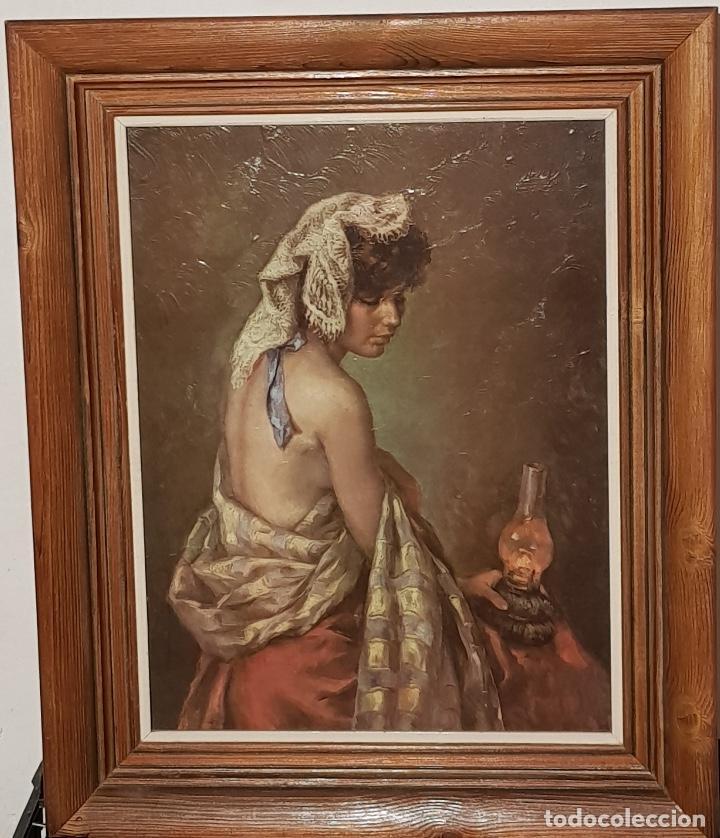 Cuadro Mujer Desnuda Enmarcado Madera Francisco Ribera