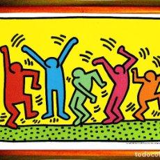 Arte: CARTEL DE - KEIT HARRIG - THE DANCE - 1987. TAMAÑO 47,26 X 30,25 CMS. Lote 125348755